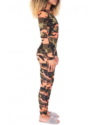 Lovely Casual Camouflage Printed Croci One-piece Jumpsuit