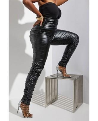 Lovely Casual Basic Skinny Black Pants