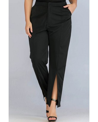 Lovely Casual Basic Black Plus Size Pants