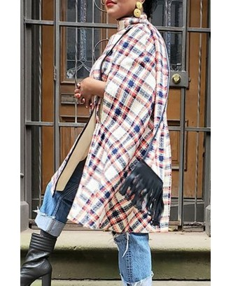 Lovely Casual Cloak Design Multicolor Trench Coat