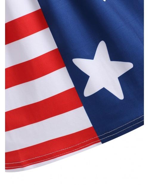 American Flag Mini Fitted Skirt -  L