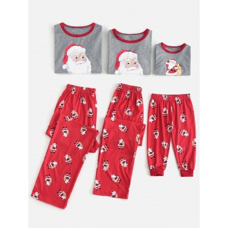 Santa Claus Patterned Matching Christmas Family Pajamas -  Dad M