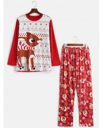 Christmas Elk Print Family Pajama -  Kid 2t