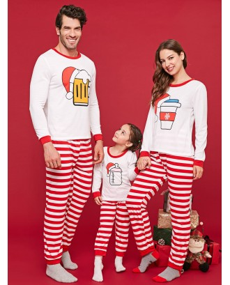 Bottles Christmas Matching Family Pajamas - Red Kid  90
