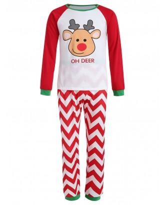 Christmas Reindeer Family Pajama - Red Kid 5t
