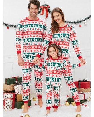 Christmas Geometric Pattern Family Pajama Sets -  Dad M